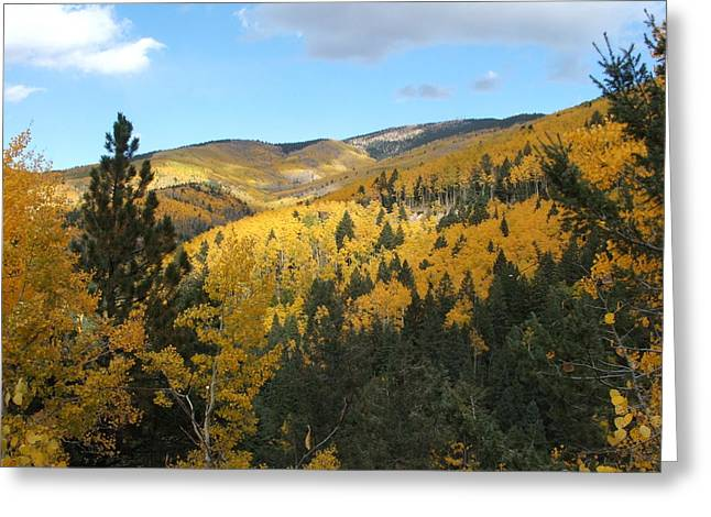 Santa Fe Autumn View Greeting Card