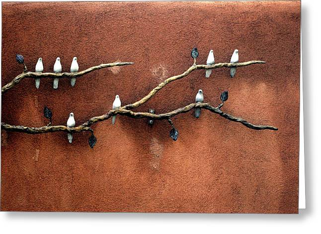 Greeting Card featuring the photograph Santa Fe Birds by Kenneth Campbell