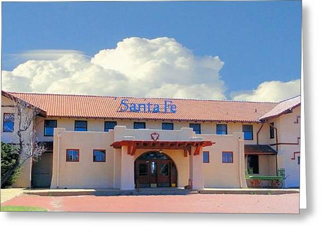 Santa Fe Depot In Amarillo Texas Greeting Card