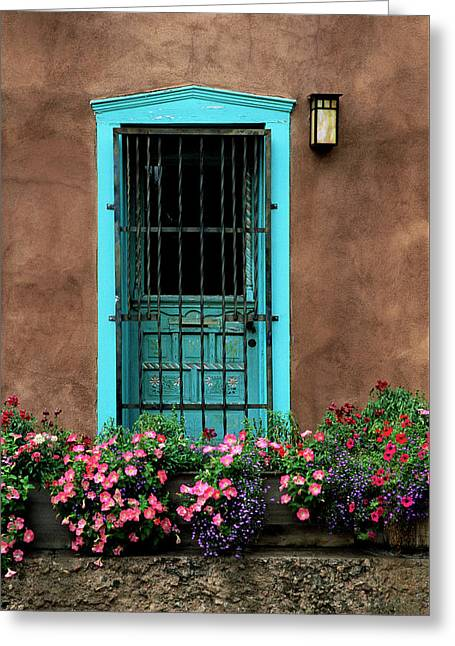Santa Fe Door #1 Greeting Card