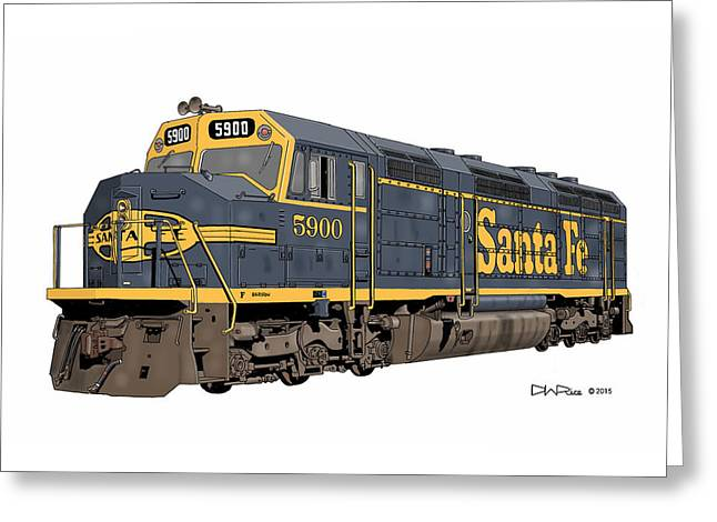 Santa Fe F45 #5900 Greeting Card by David Rice