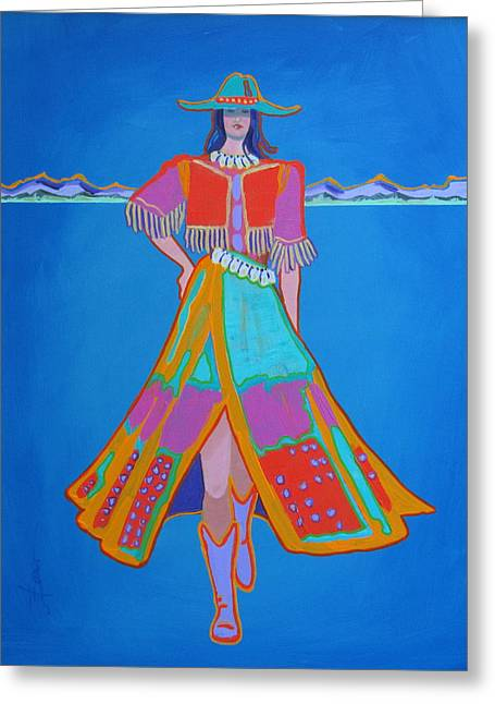 Santa Fe Girl  Greeting Card