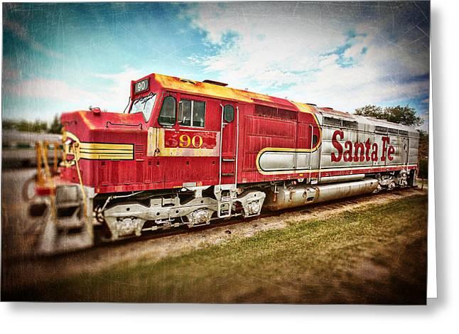 Santa Fe Locomotive Greeting Card by Charrie Shockey