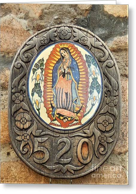 Santa Fe Madonna Greeting Card by Ann Johndro-Collins