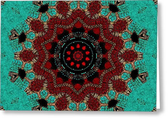Santa Fe Mandala Greeting Card