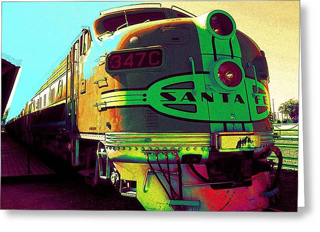 Santa Fe Railroad New Mexico Greeting Card