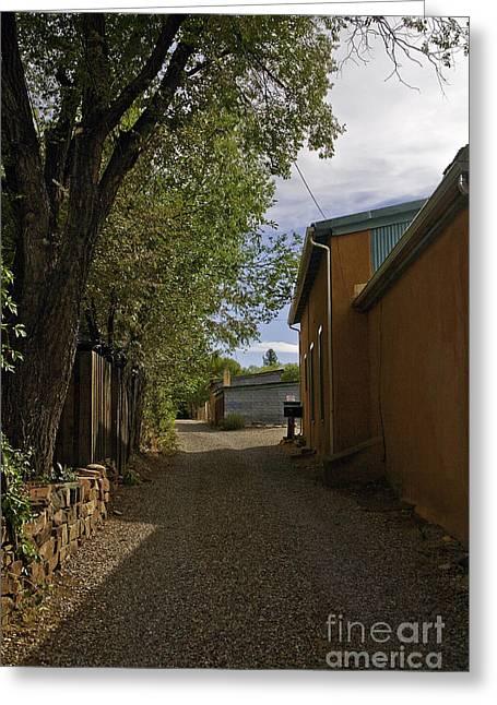 Santa Fe Road Greeting Card by Madeline Ellis