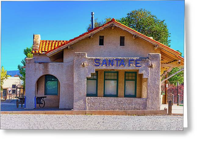 Greeting Card featuring the photograph Santa Fe Station by Stephen Anderson