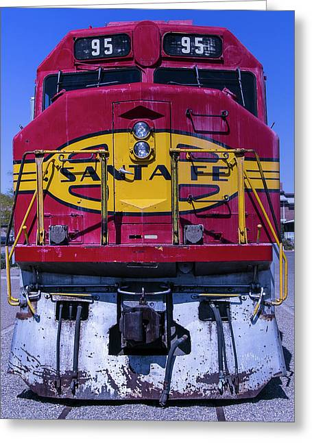 Santa Fe Train Head On Greeting Card by Garry Gay