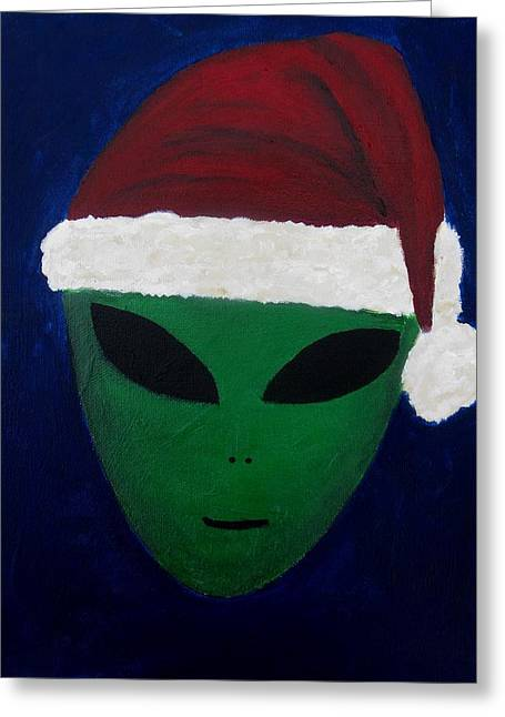 Santa Hat Greeting Card by Lola Connelly