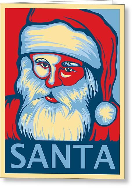 Santa Hope Greeting Card by David Kyte