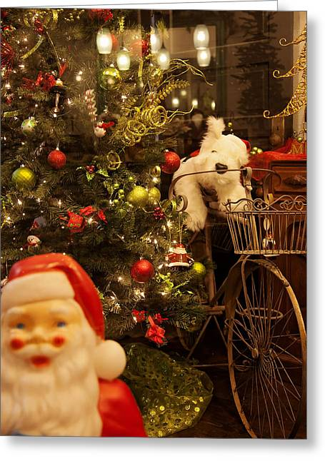 Santa How Much Is That Doggie In The Window Greeting Card
