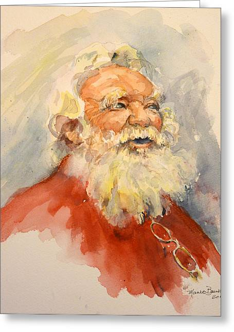 Santa Is That You Greeting Card by P Maure Bausch