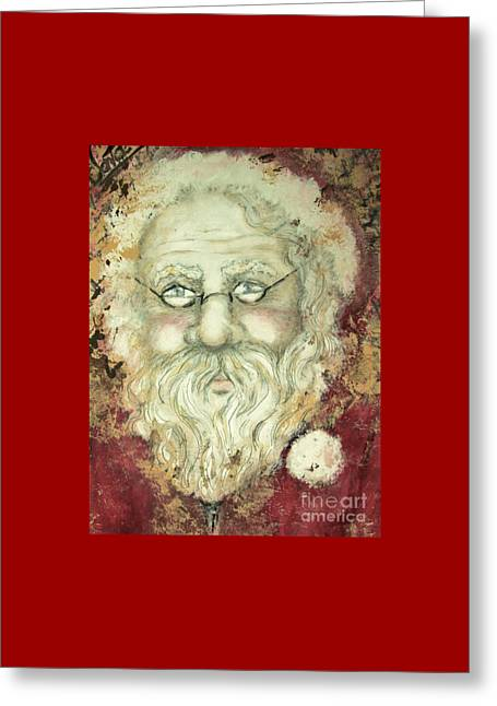 Santa  Greeting Card by Liz Lafalce