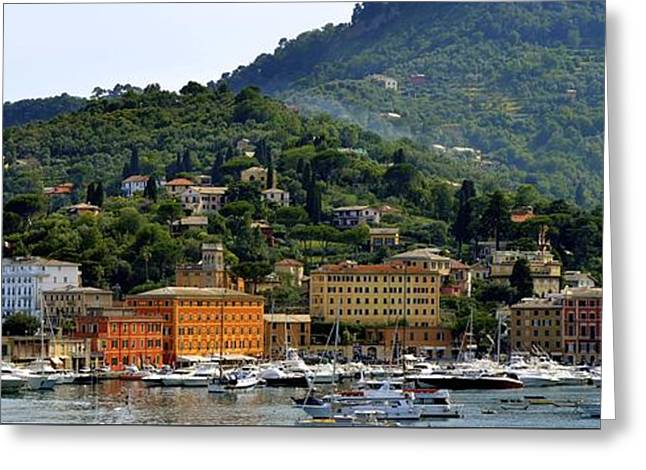 Greeting Card featuring the photograph Santa Margherita Ligure by Corinne Rhode