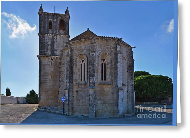 Santa Maria Do Carmo Church In Lourinha. Portugal Greeting Card