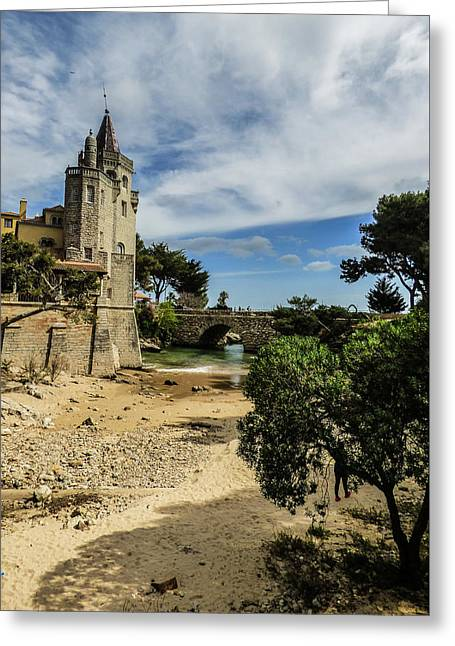 Santa Marta Beach In Cascais, Portugal Greeting Card