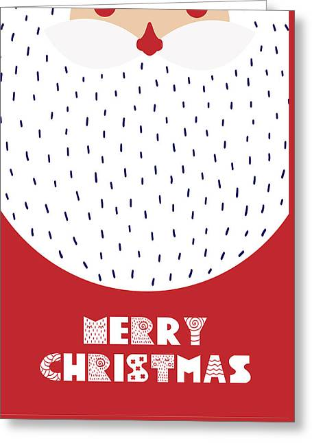 Greeting Card featuring the digital art Santa Merry Christmas by Christopher Meade