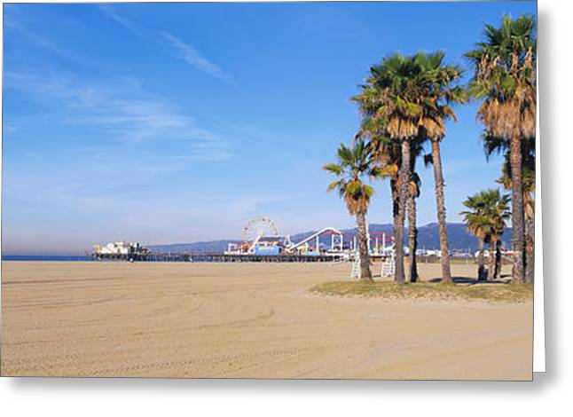 Santa Monica Beach Ca Greeting Card