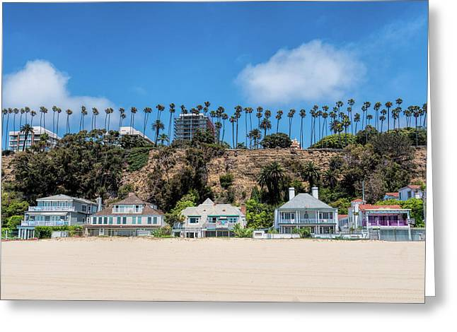 Santa Monica Beach Front Greeting Card