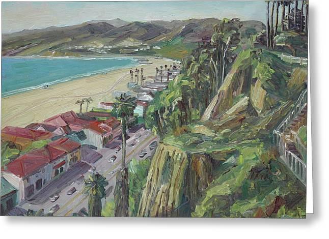 Santa Monica Bluffs Greeting Card by John Kilduff