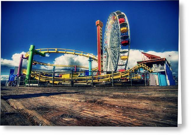 Santa Monica Greeting Card by Chris Multop
