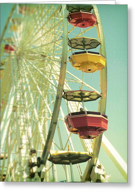 Santa Monica Ferris Wheel Greeting Card