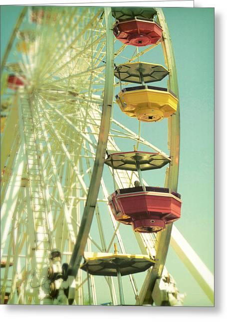 Greeting Card featuring the photograph Santa Monica Ferris Wheel by Douglas MooreZart