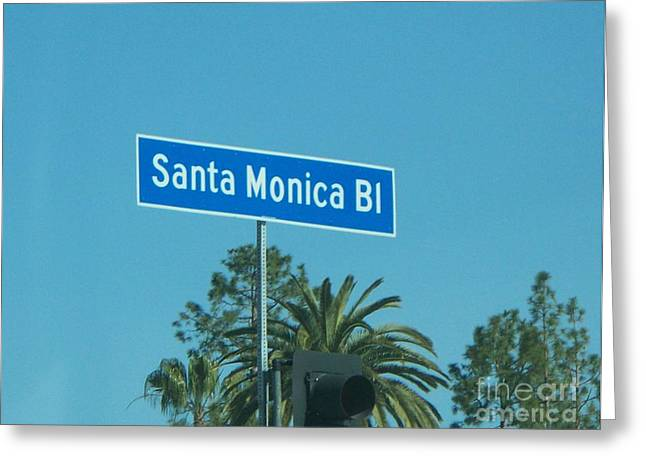 Santa Monica Greeting Card by Sacred  Muse
