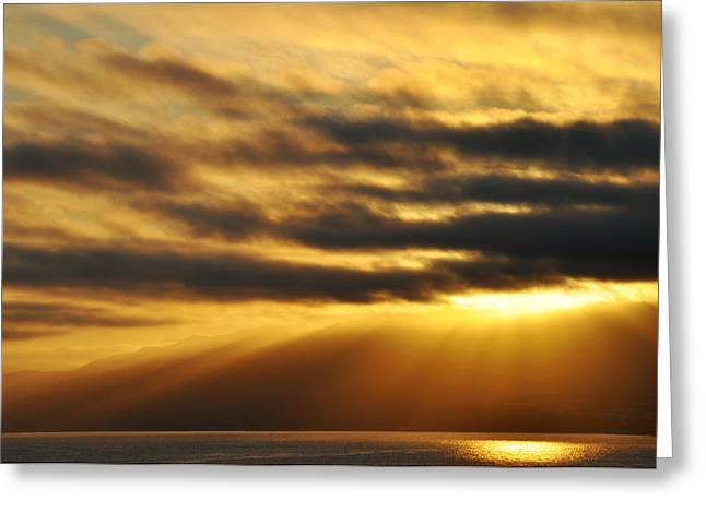 Greeting Card featuring the photograph Santa Monica Golden Hour by Kyle Hanson
