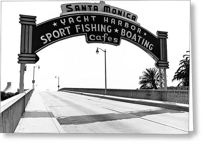 Santa Monica Pier Arch Greeting Card