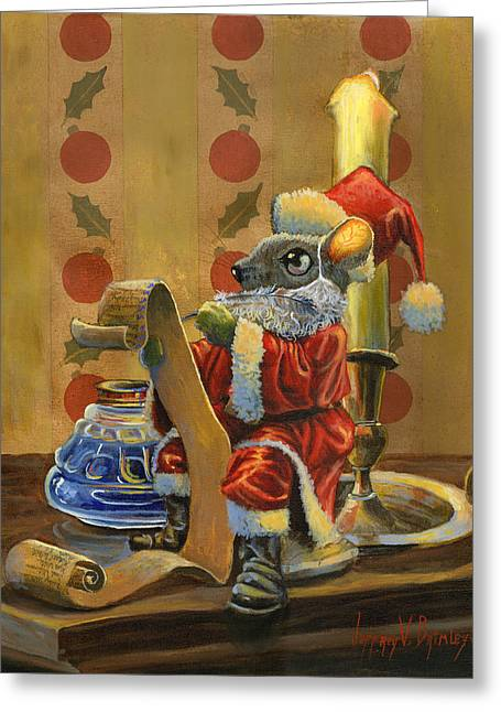 Santa Mouse Greeting Card by Jeff Brimley