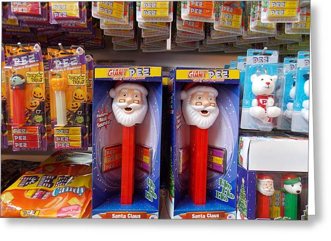 Santa Pez Greeting Card
