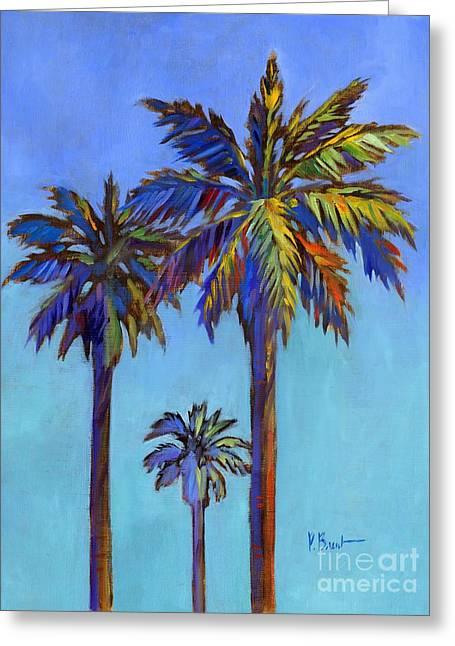 Santa Rita Palm II Greeting Card by Paul Brent