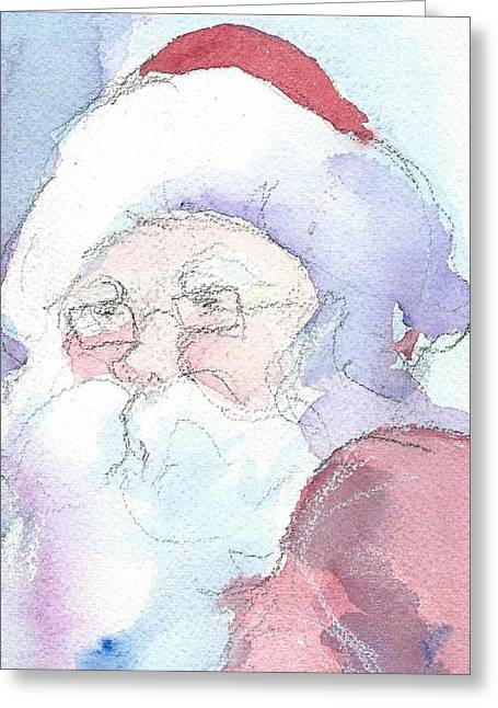 Santa  Greeting Card by Robert Yonke