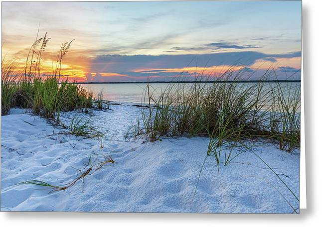 Santa Rosa Sound Sunset Greeting Card