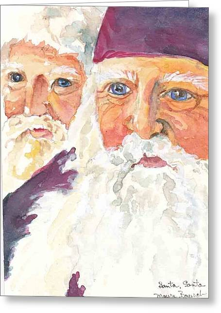 Santa Santa Greeting Card