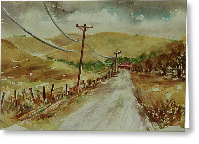 Greeting Card featuring the painting Santa Teresa County Park California Landscape 3 by Xueling Zou