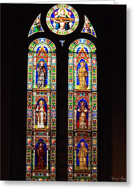 Santa Trinita Stained Glass Greeting Card