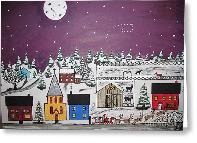 Santa Under The Little Dipper Greeting Card by Jeffrey Koss