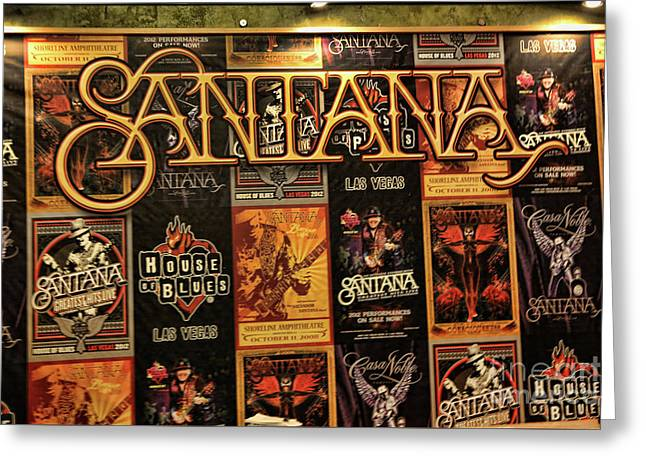 Santana House Of Blues Greeting Card