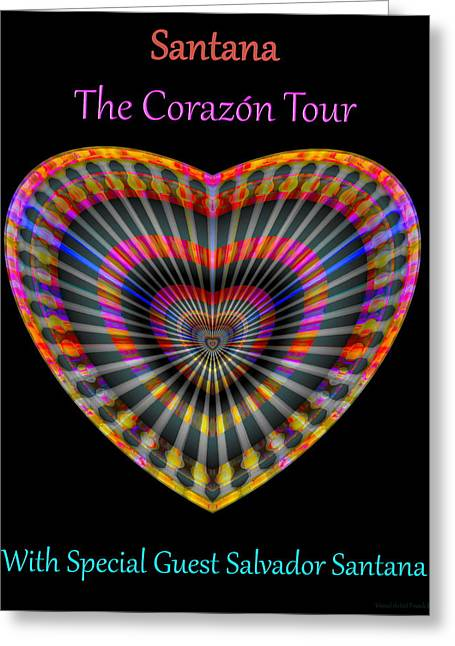 Santana The Corazon Tour Greeting Card