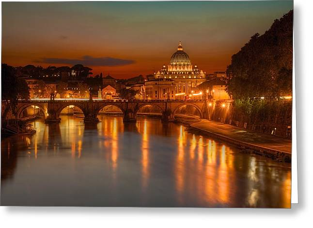 Sant'angelo Bridge Greeting Card