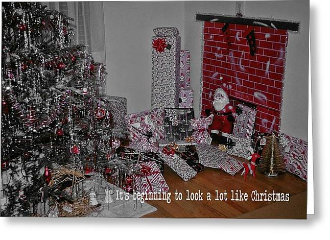 Santas Almost Here Quote Greeting Card by JAMART Photography