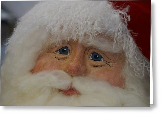 Santa's Compassionate Face Greeting Card by Shirley Stevenson Wallis