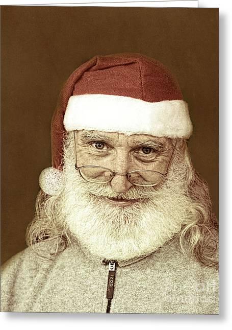 Santa's Day Off Greeting Card by Linda Phelps