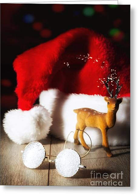 Santas' Glasses Greeting Card by Amanda Elwell