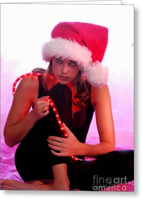Santas Helper Greeting Card by Clayton Bruster