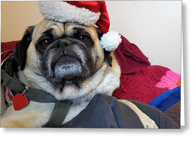 Santas Helper Greeting Card