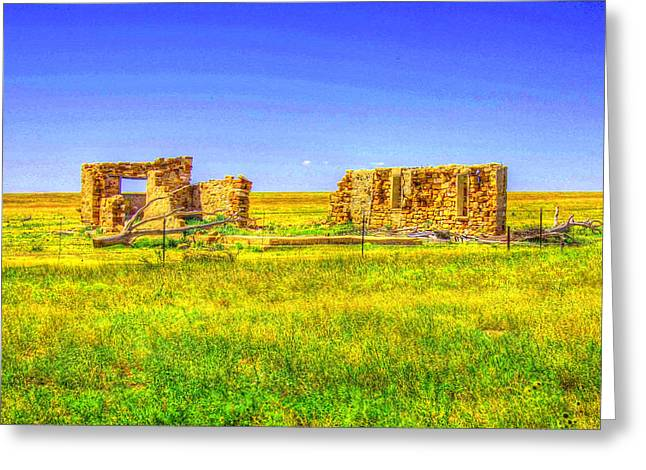 Sante Fe Trail Greeting Cards - Sante Fe Trail Ruins Greeting Card by Tommy Anderson